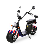 2020 Big Harley+BTSpeaker Double Seat 1500W 2-wheel Electric motorcycle | National flag