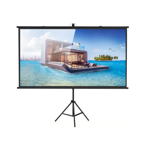 CRONY 120 Inches Tripod Projector Screen with Stand, Portable Foldable Projection Movie Screen Fabric