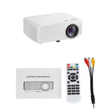 RD816 Portable LCD Projector Home Theater 1200 Lumens with Speaker Support 1080P for Meeting -White