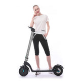 HX X7 Folding E-scooter Electric Scooter 8.5 inch 500W Adult Electric Motor Foldable Electric Kick Scooter | Silver