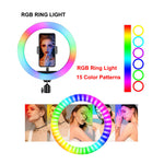 MJ45(18inch)  wire-controlled mobile phone RGB LED Live Fill Light