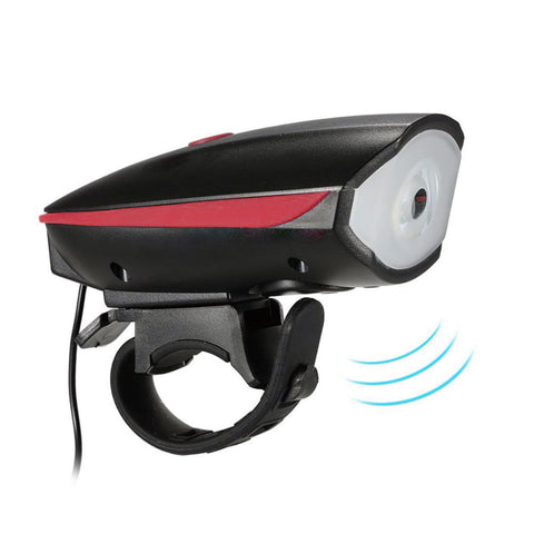 Accessories Scooter lamp + horn Bicycle e-Scooter LED Head Light Super Horn Electronic Bell Lamp Water Resistant