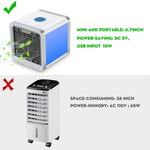 COMLIFE 3 in 1 Personal Space Air Cooler, Humidifier and Purifier, Desktop Air Conditioner Fan with 3 Speeds and 7 Colors LED Night Light