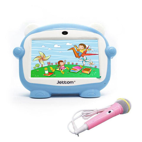 Jettom baby learn machine J1 7 inch 8GB ROM 512MB RAM LCD Dual Camera Kids Tablet | Blue
