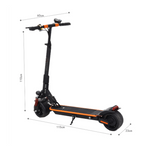 CRONY Top Speed 40KM/H 8 inch wide tyre electric scooter, Replaceable battery prolong riding distance