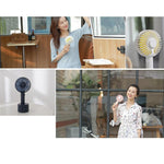 Handheld Fan Portable, Mini Hand Held Fan with USB Rechargeable Battery