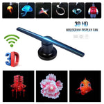 3D Hologram Advertising WIFI+APP Advertising Display Holographic Imaging Naked Eye Fan