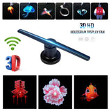 NEW 3D hologram Led fan(42CM)Advertising Display Holographic Imaging Naked Eye Fan