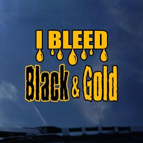 I Bleed Black And Gold VCU Decal