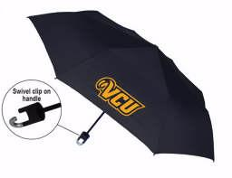 VCU Black Mini Storm Clip Umbrella