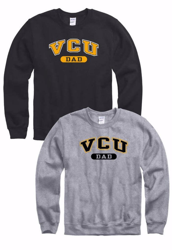 VCU Dad Crew Neck Sweatshirt Grey Gray Black