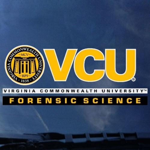 VCU Forensic Science Decal