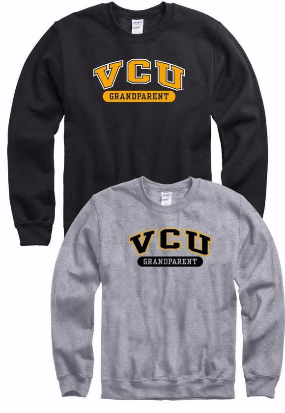 VCU Grandparent Crew Neck Sweatshirt Gray Grey Black