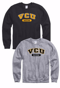 VCU Mom Crew Neck Sweatshirt Gray Grey Black