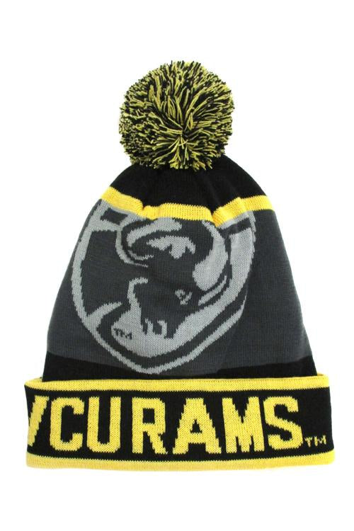 VCU Knit Beanie Black, Gold And Gray Grey Ram