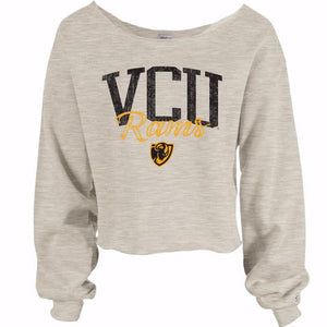 VCU Wide Neck Oatmeal Crew