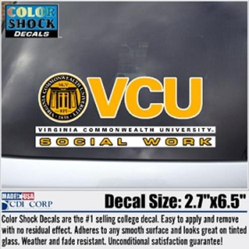 VCU Social Work Decal