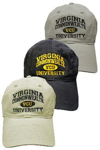 Virginia Commonwealth University Hat Black Gray Grey