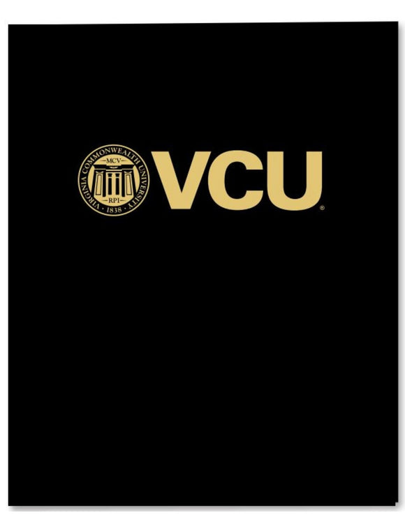 VCU Black Laminated Folder
