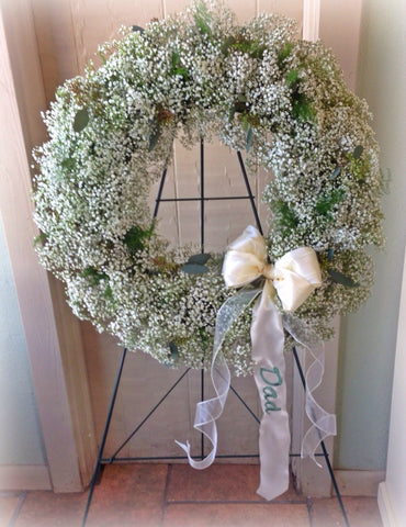 Baby's Breath Tribute Wreath