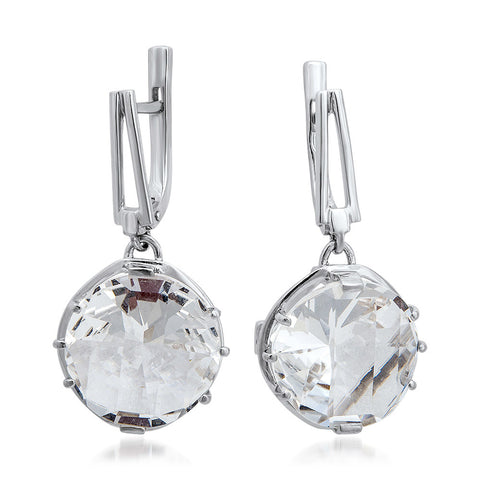 875 Silver Earrings with Rock Crystal