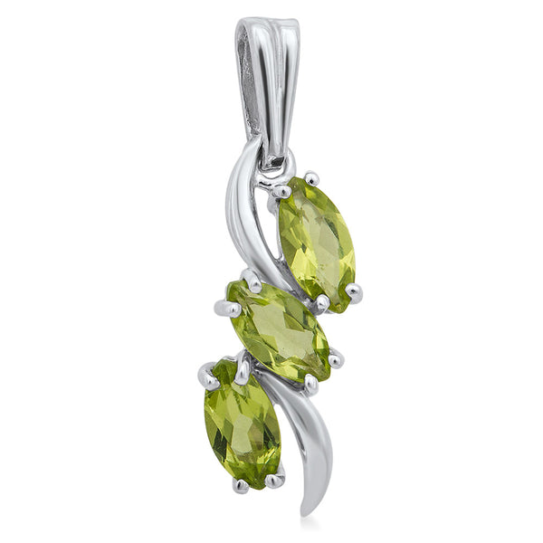 875 Silver Pendant with Peridot