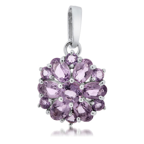 925 Silver Pendant with Amethyst