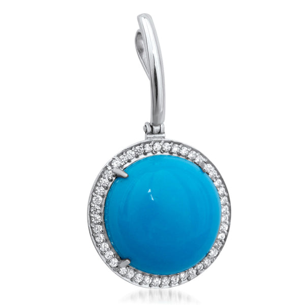 875 Silver Pendant with Turquoise