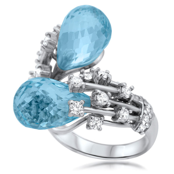 875 Silver Ring with Blue Topaz