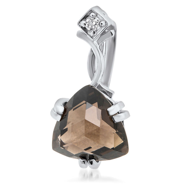 925 Silver Pendant with Smoky Quartz