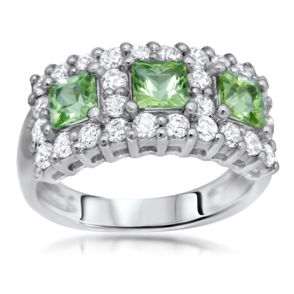 875 Silver Ring with Peridot