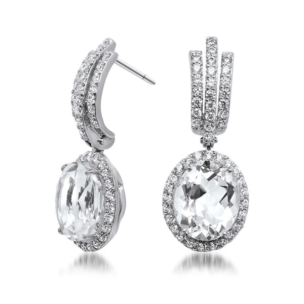 925 Silver Earrings with Rock Crystal