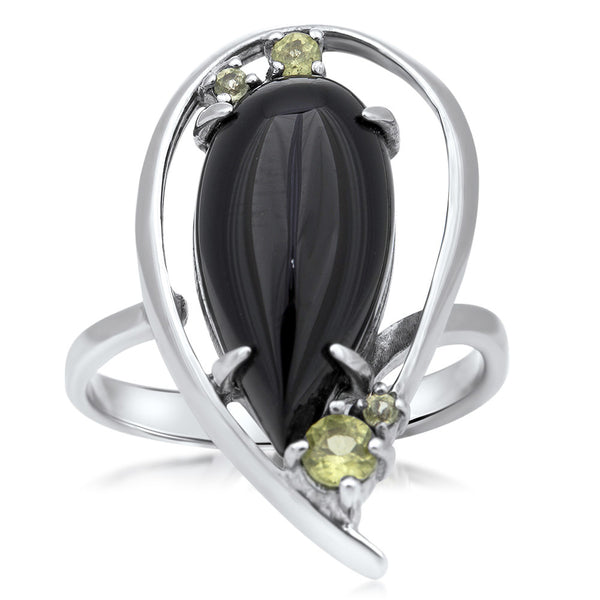 925 Silver Ring with Onyx
