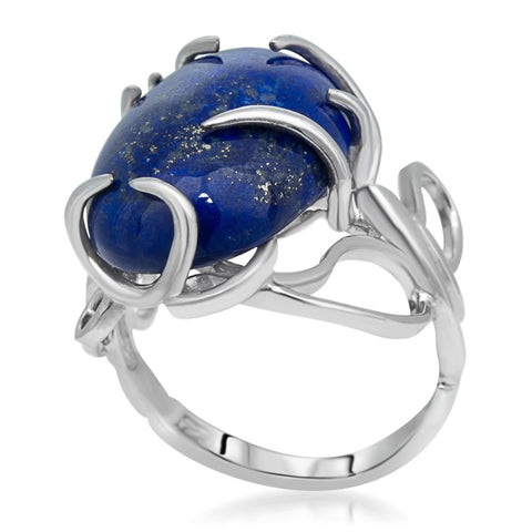 875 Silver Ring with Lapis Lazuli