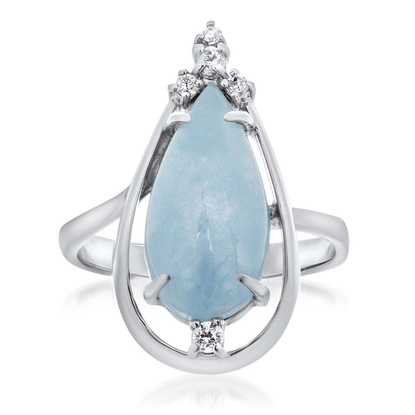 925 Silver Ring with Blue Jade