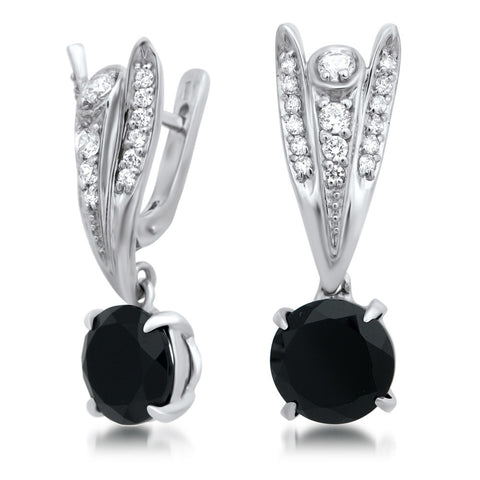 875 Silver Earrings with Onyx