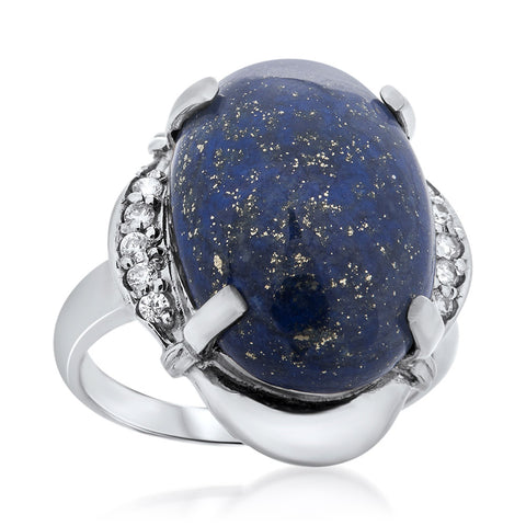 925 Silver Ring with Lapis Lazuli