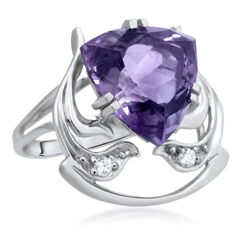 875 Silver Ring with Amethyst