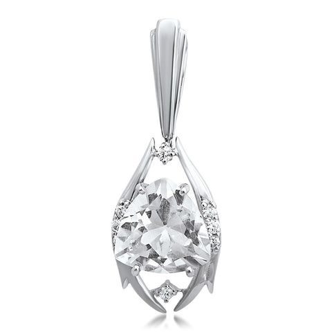 875 Silver Pendant with Rock Crystal