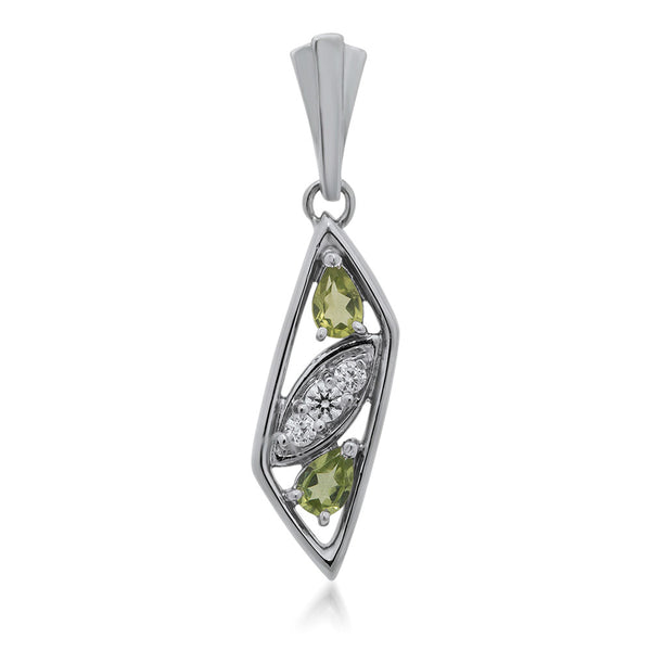 925 Silver Pendant with Peridot