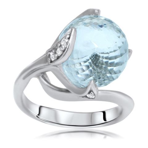 875 Silver Ring with Rock Crystal