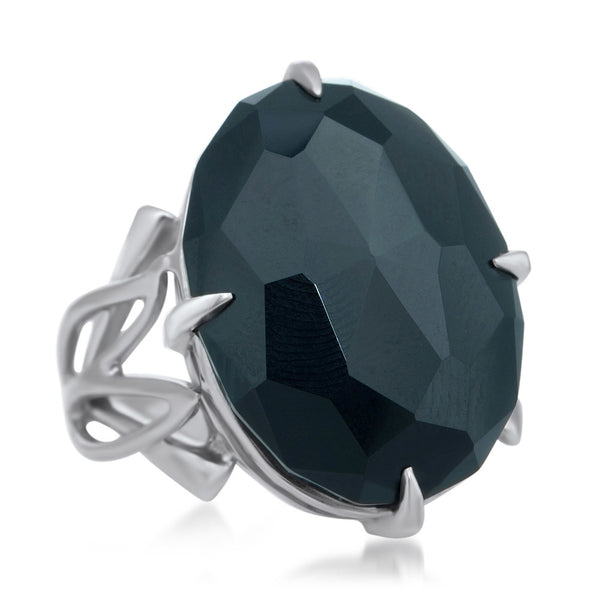 875 Silver Ring with Onyx