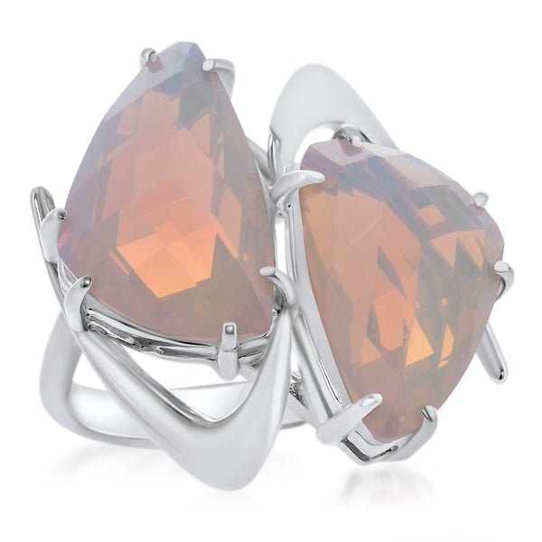 875 Silver Ring with Fire Opal