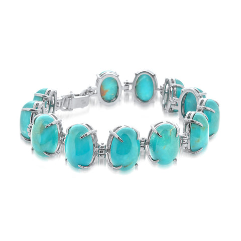925 Silver Bracelet with Turquoise