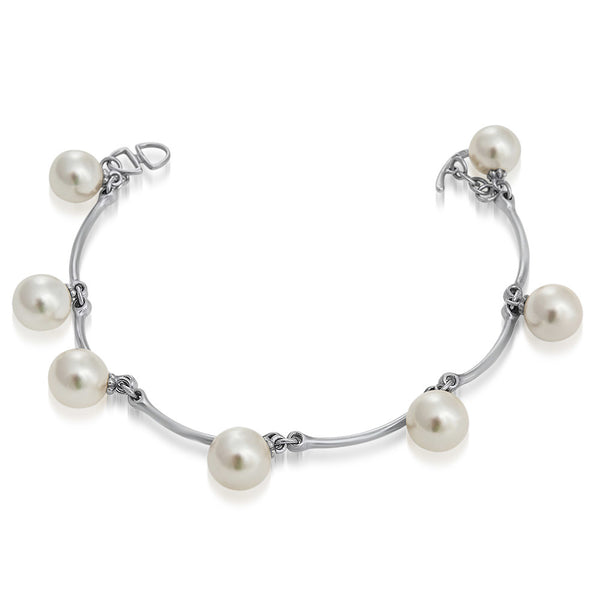925 Silver Bracelet with White Shell Pearl