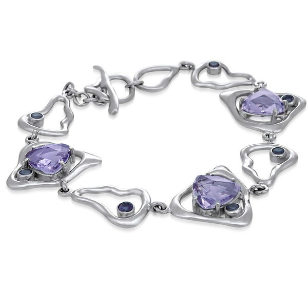 875 Silver Bracelet with Amethyst
