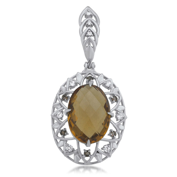 875 Silver Pendant with Cognac Citrine