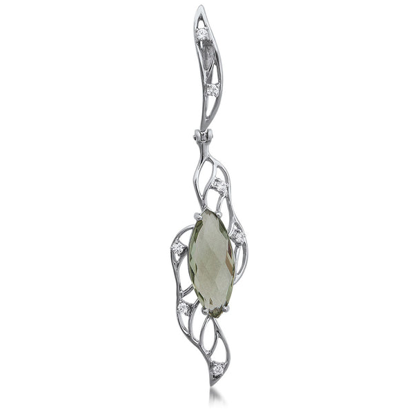 875 Silver Pendant with Prasiolite