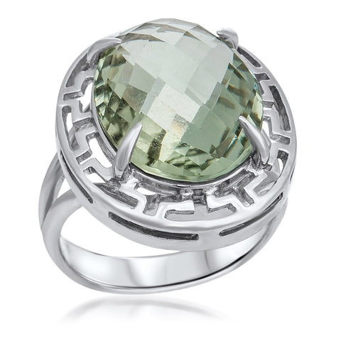 875 Silver Ring with Prasiolite