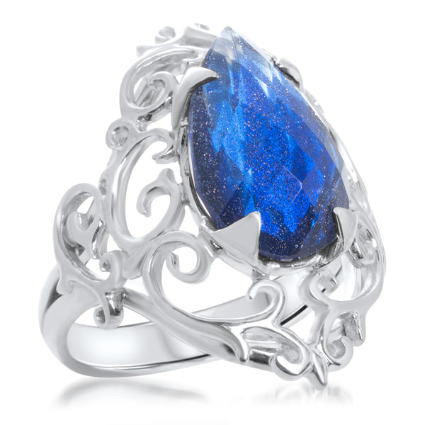 925 Silver Ring with Blue Sapphire
